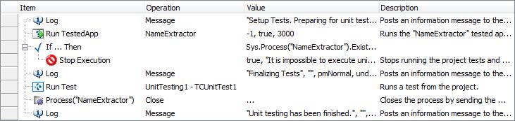 The keyword test