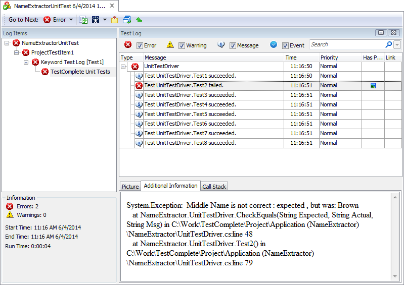 Unit Testing Example - TestComplete Support | SmartBear