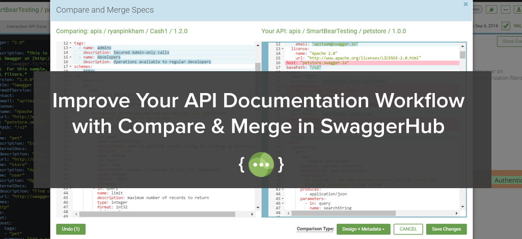 Improve Your API Documentation Workflow with Compare & Merge in SwaggerHub
