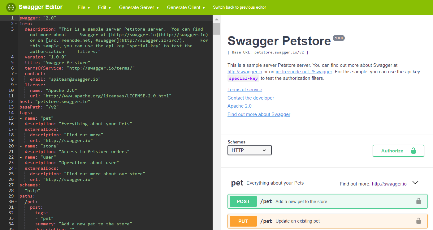 Swagger Editor | Swagger | Swagger