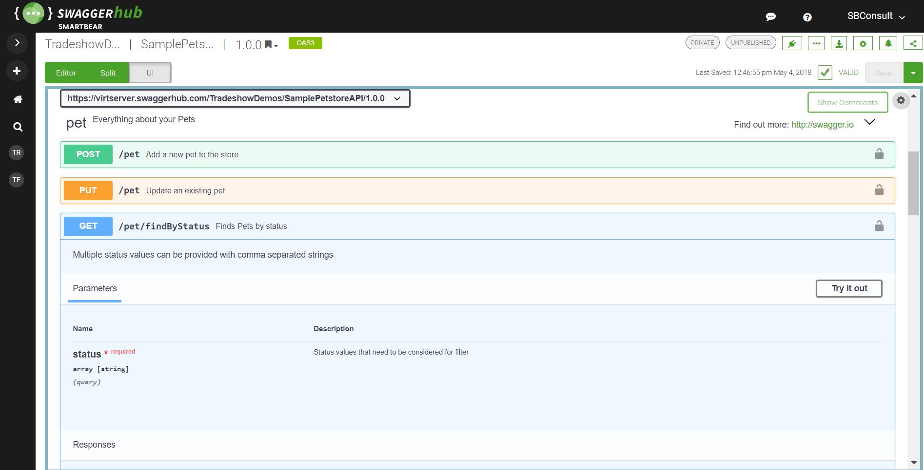 hosted interactive api documentation swaggerhub swagger