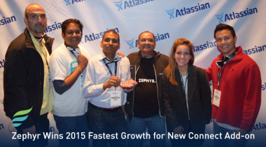 Zephyr Wins 2015 Fastest Growth for New Connect Add-On Award