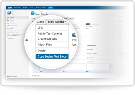 Zephyr for JIRA advanced capabilities
