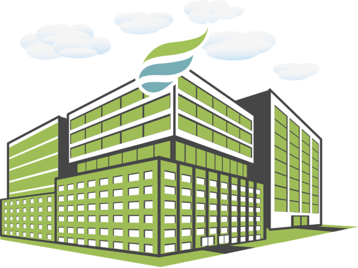 enterprise icon green building